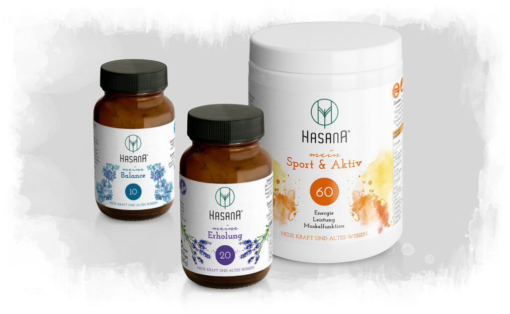 HASANA Produkte - Mikronährstoffe, Vitamine, Vitalpilze, Mineralstoffe, Spurenelemente